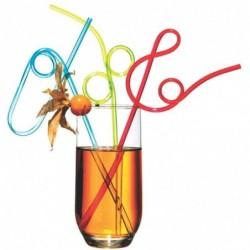 """SUSY CARD lot de 4 Pailles """"Spirale"""" en plastique"""
