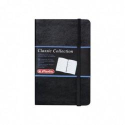 """HERLITZ Carnet Bloc-notes """"Classic Collection"""" A6 192 Pages Ligné noir"""
