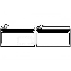 HERLITZ enveloppe, grand format, AVEC fenêtre, blanc
