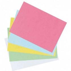 HERLITZ paquet de 100 fiches bristol, format A6, unie, bleu