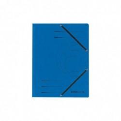 HERLITZ Chemise à élastiques, format A4, colorspan, Bleu