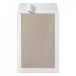 HERLITZ Paquet de 10 Pochettes d'expédition B4 120g Dos Carton Blanc