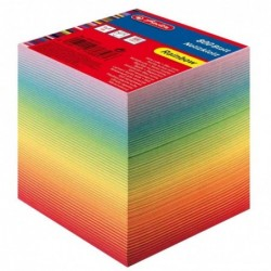 HERLITZ Bloc-notes cube 800 feuillets Collés 90 x 90 mm 80g Couleur