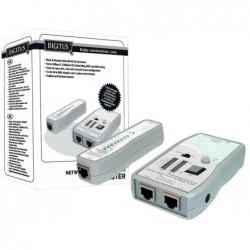 DIGITUS Testeur de câble réseau et télécommunication pour RJ45 et BNC