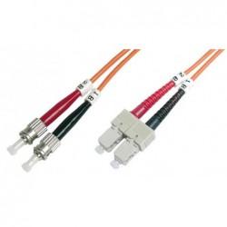 DIGITUS Câble Fibre Optique Duplex 50/125 OM2 ST SC Orange 5 m