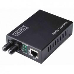 DIGITUS Convertisseur médias Gigabit Ethernet ST / RJ45