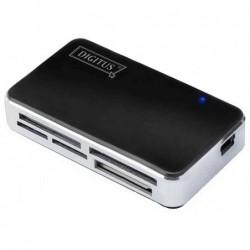 """DIGITUS Lecteur de carte USB 2.0 """"tout-en-un"""", noir"""