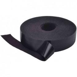 DIGITUS Bande auto-agrippante Velcro 20 mm x 10 m Noir
