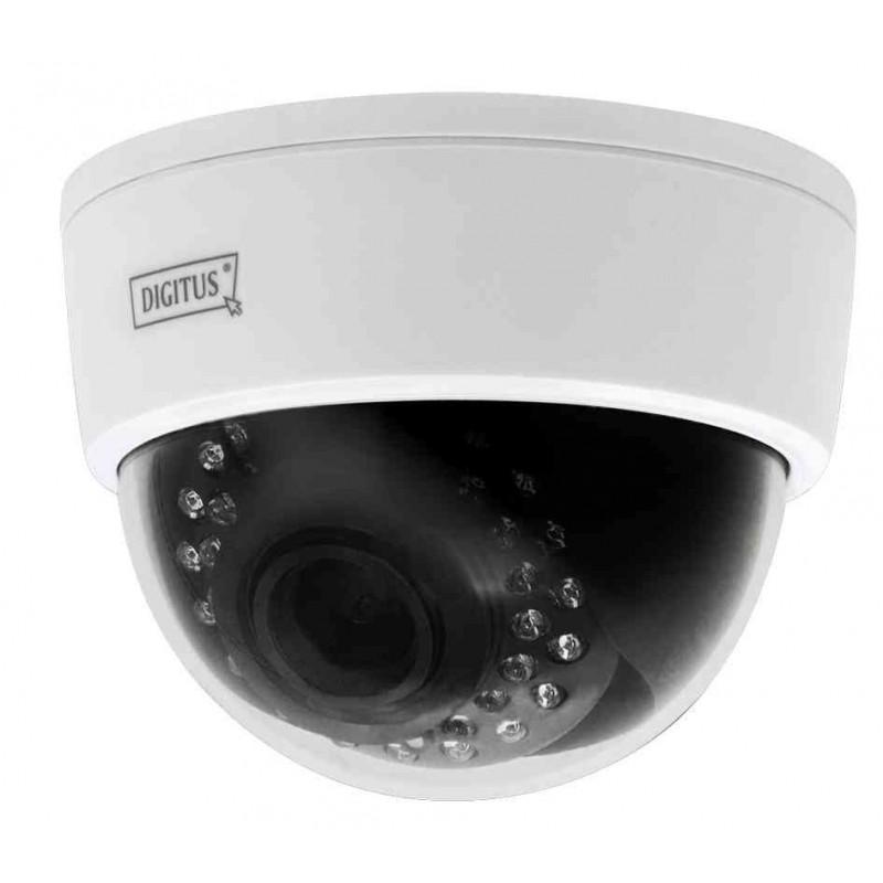 """DIGITUS Caméra réseau IP Plug&View """"OptiDome"""" Wifi 2 MégaPixels"""