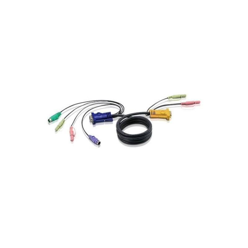 ATEN Câble KVM 2L-5305P - VGA/PS2/AUDIO vers SPHD 5m