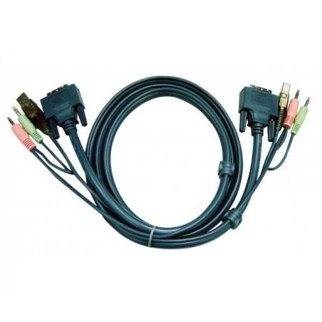ATEN Câble KVM 2L-7D03U - USB/DVI-D/AUDIO 3m