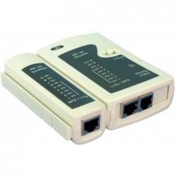 LOGILINK Testeur de câble Logilink RJ11, RJ12, RJ45 avec unité Remote