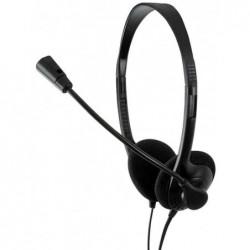 LOGILINK Casque audio stéréo avec microphone Easy Noir