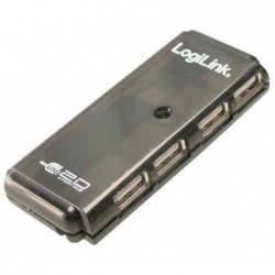 LOGILINK Hub USB 2.0, 4 ports, anthracite-transparent