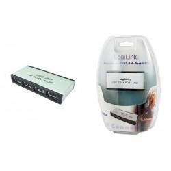 LOGILINK Hub USB 2.0 avec bloc secteur, 4 ports, boîtier