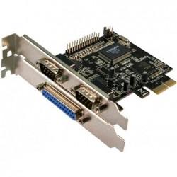 LOGILINK Carte PCI-Express série/parallèle , 2 ports serie + 1port parallèle