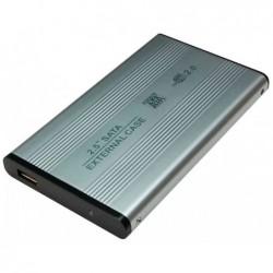 """LOGILINK Boîtier externe Aluminium pour disque dur SATA 2,5"""" Argent"""