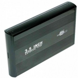 "LOGILINK Boîtier-aluminium USB 2.0 pr disques durs IDE 3,5"""