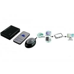 LOGILINK mini commutateur HDMI avec télécommande, 3 ports,