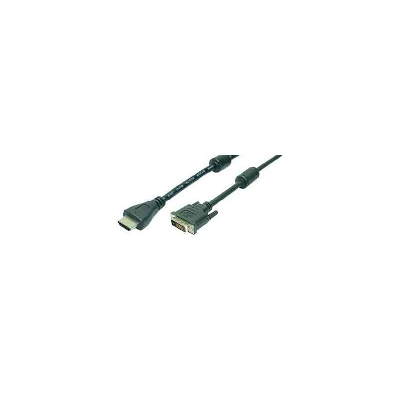 LOGILINK Câble de moniteur 19 pôles HDMI vers 18 + 1 DVI M / M 3 m Noir