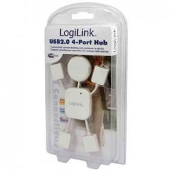 "LOGILINK hub USB 2.0 ""Hangman"", 4 ports, blanc"