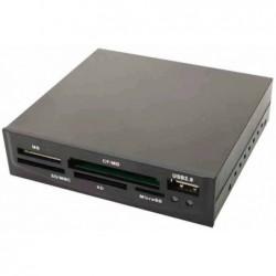 """LOGILINK Lecteur de cartes USB 2.0, 54 en 1, boîtier en plastique pour baie 3,5"""""""