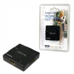 LOGILINK Mini commutateur HDMI avec amplificateur, 3 ports