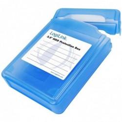 """LOGILINK Box HDD pour disques durs externes 3,5"""", bleu"""