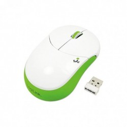 LOGILINK Mini souris optique sans fil Smile 1000 dpi Vert