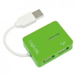 LOGILINK Hub USB 2.0 Smile 4 ports Vert