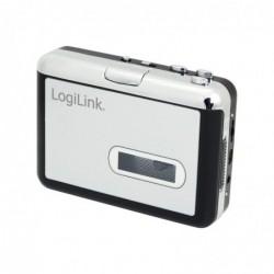 LOGILINK Convertisseur numérique Cassette MP3  Noir / Argent