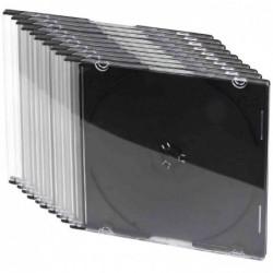 LOGILINK Pack de 10 étuis vide Slim Case pour 1 CD/DVD fond Noir