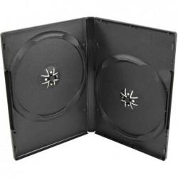 LOGILINK Lot de 5 Double étui vide pour 2 DVD Jewel Case Noir