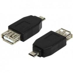 LOGILINK Adaptateur USB 2.0, micro fiche mâle USB-B -femelle USB-A