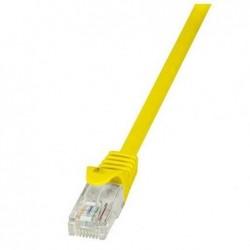 LOGILINK Câble réseau EconLine, Cat. 6, U/UTP, 2 m, jaune