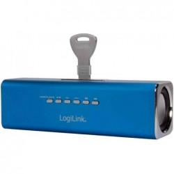 LOGILINK Enceinte portable DiscoLady avec lecteur MP3 Bleu
