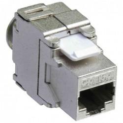 LOGILINK Module Keystone Cat.6A, classe EA, blindé Gris