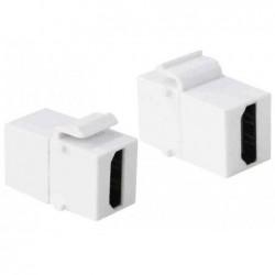 LOGILINK Connecteur keystone HDMI, blanc