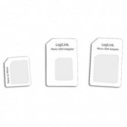 LOGILINK Adaptateur Dual Sim Card Blanc