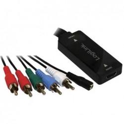 LOGILINK Convertisseur HDMI vers YPbPr avec Audio, 0,2 m, noir