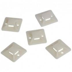 LOGILINK Pack de 100 Supports d'attaches de câble auto-adhésives 25 mm x 25 mm