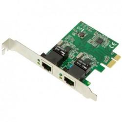 LOGILINK Carte réseau PCI Express 2 Ports Argent