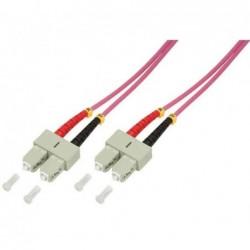 LOGILINK PROFESSIONAL Câble patch à fibre optique SC Duplex - SC Duplex OM 4 1 m