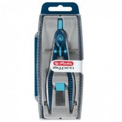 HERLITZ Compas à réglage rapide my.pen, bleu clair/bleu