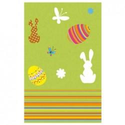 """SUSY CARD Nappe de pâques """"basse-cour"""" 800 x 800 mm absorbant"""