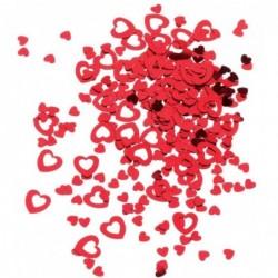 SUSY CARD Sachet 14g de Confettis COEUR film plastique Rouge