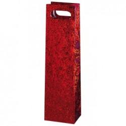 SUSY CARD Sac bouteille de Noel Festival rouge