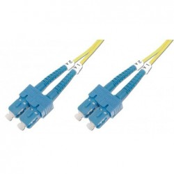 DIGITUS Câble Fibre Optique Duplex 9/125 OS1 SC SC Jaune 2 m