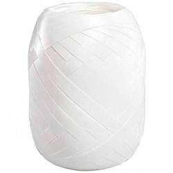SUSY CARD Ruban Bolduc en pelote lisse 5 mm x 20 m Blanc