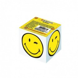 HERLITZ Bloc-notes cube SmileyWorld, 80 x 80 mmm, blanc